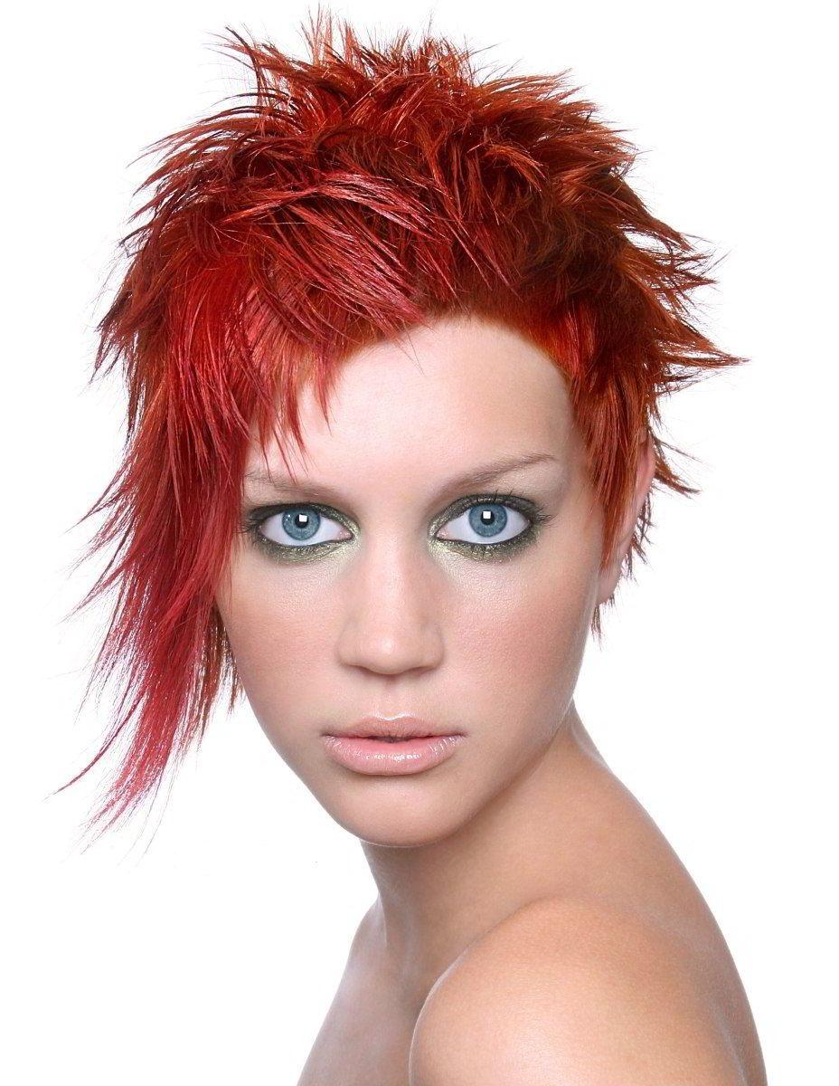 Модные прически на короткие рыжие волосы 2019