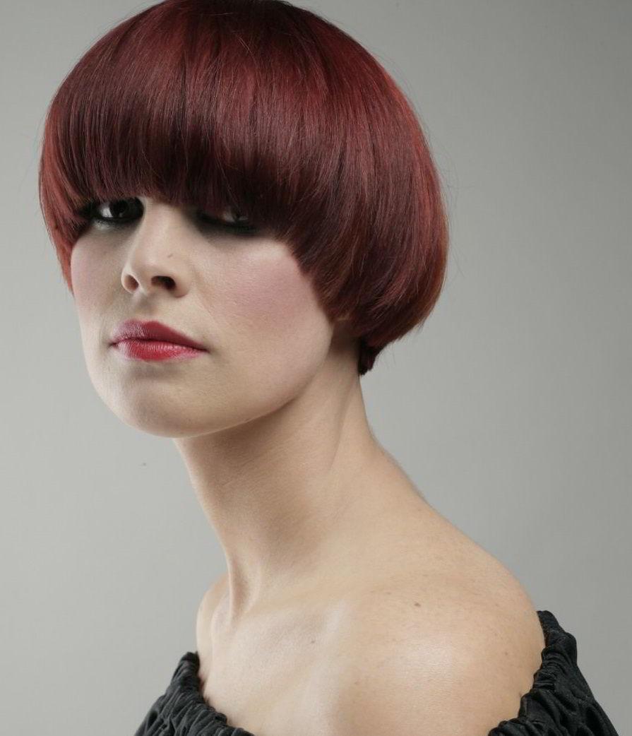 Модные прически на короткие рыжие волосы 2020