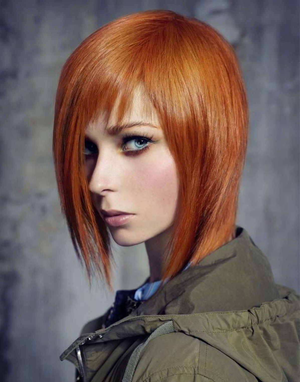 Модные прически на средние рыжие волосы 2020