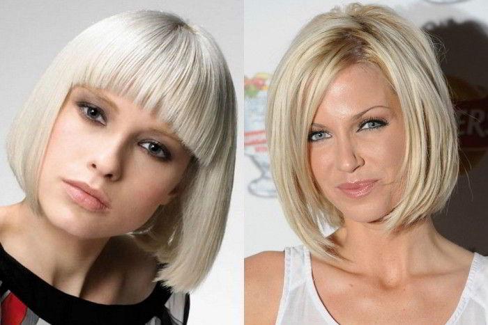 Модная прическа блондинок каре 2020