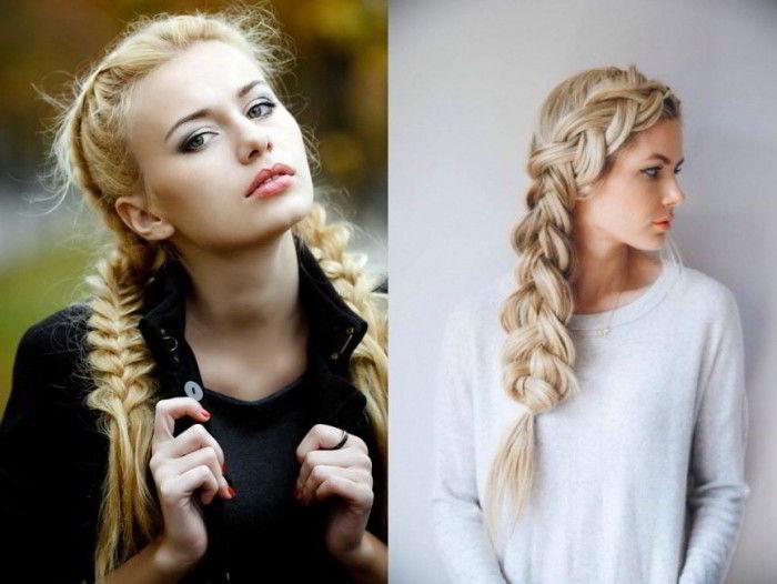 Выбор косы в зависимости от типа лица