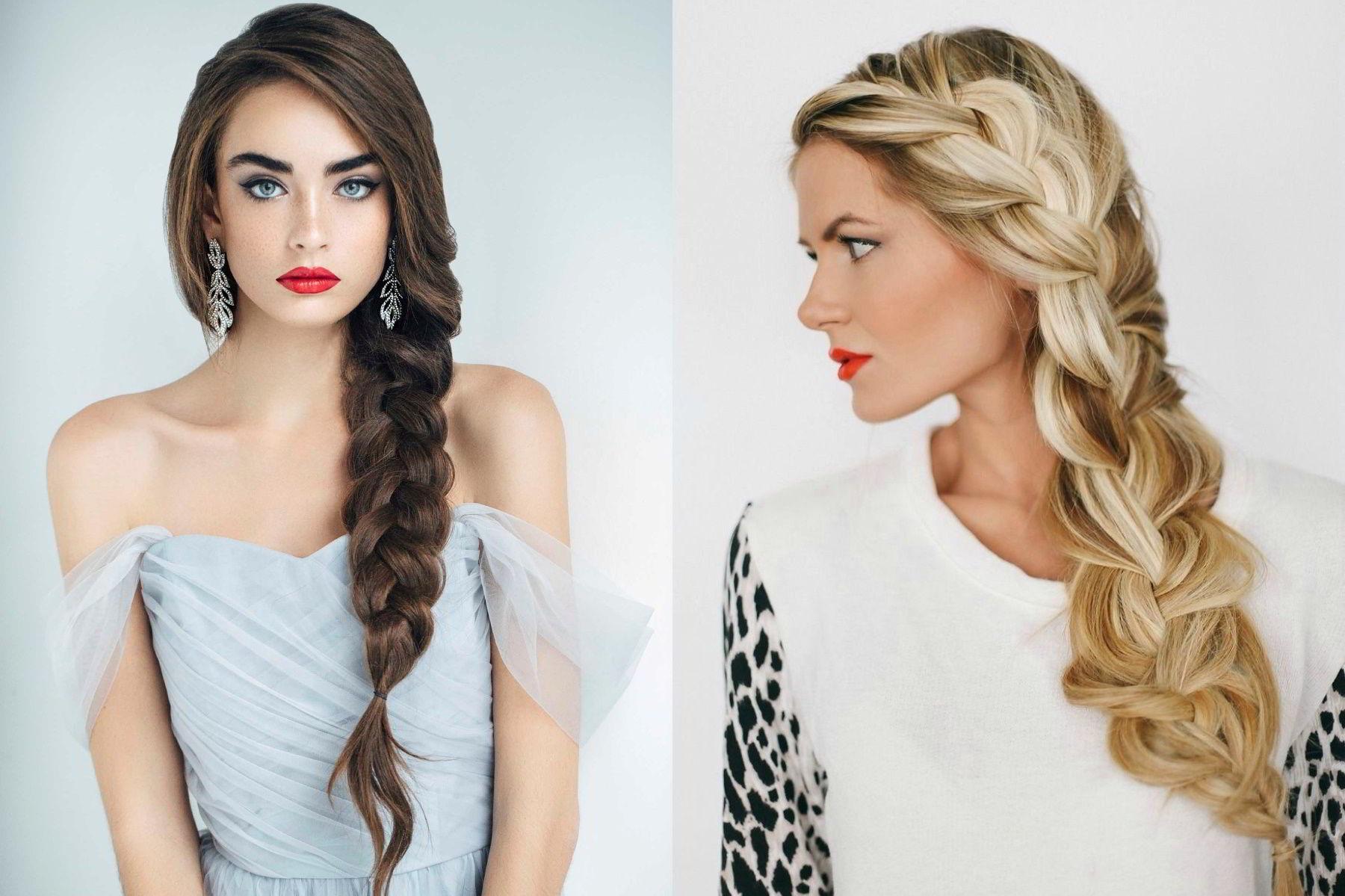 Модные прически с косами на длинные волосы 2020 фото