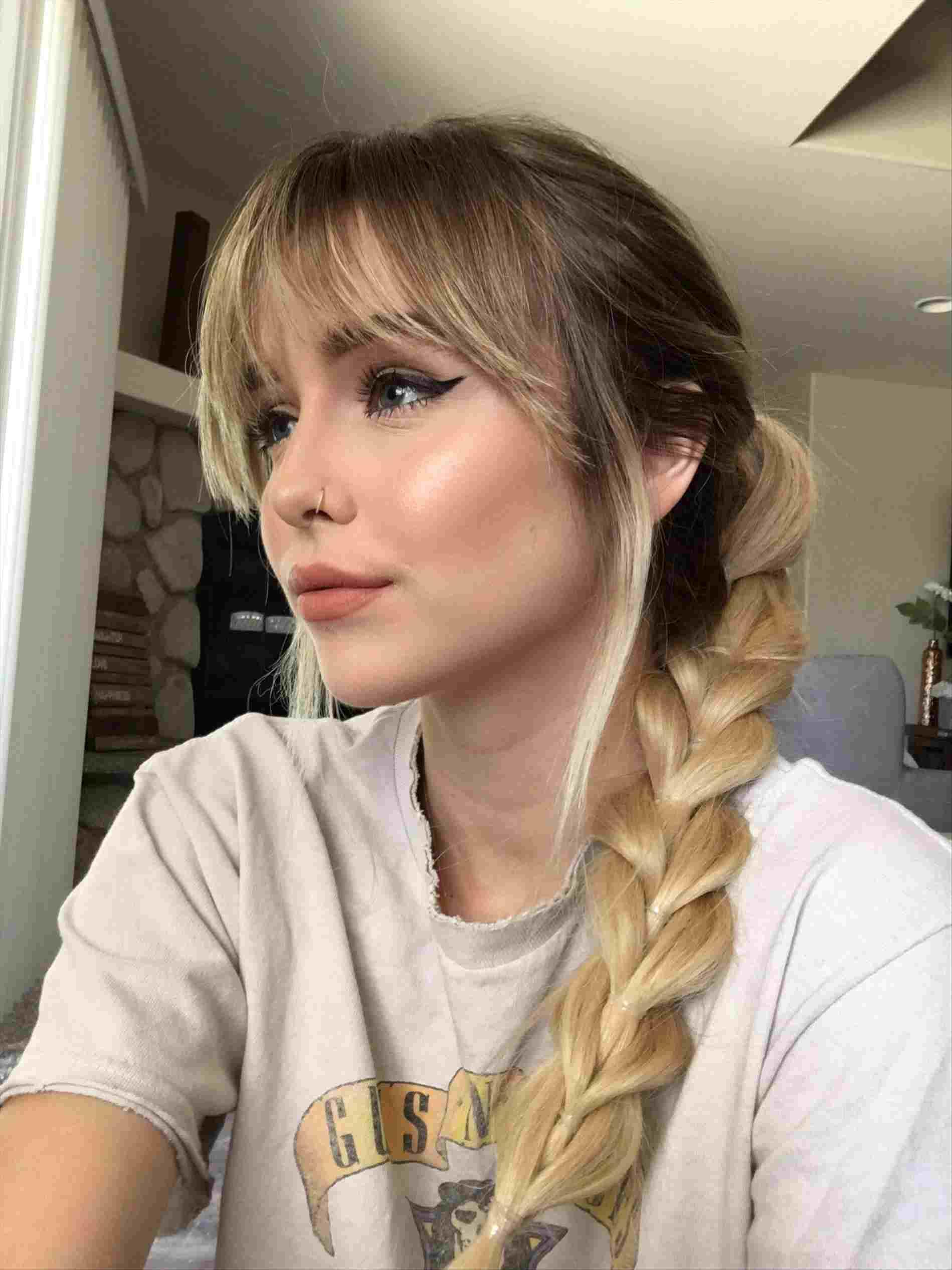 Косы на длинные волосы с челкой 2019