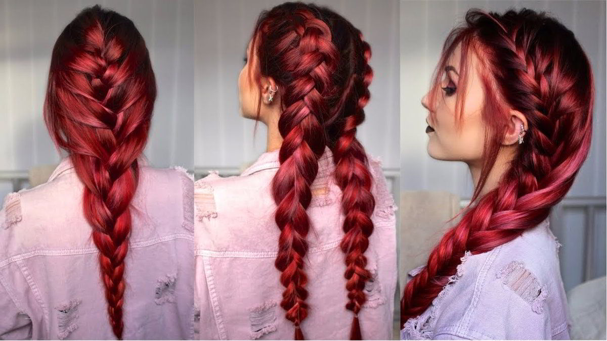 Французская коса на длинные волосы 2020