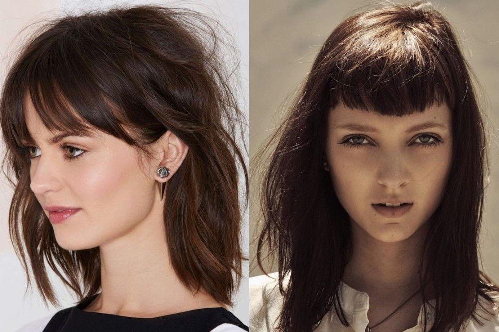 Каре или боб с челкой на длинные волосы 2020