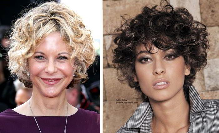 Модная прическа боб кудрявых волос 2020