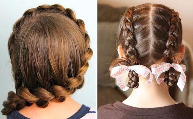 Модная прическа народная коса для девочек в школу 2020