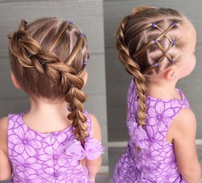Модные прически на средние волосы для девочек 2020 фото