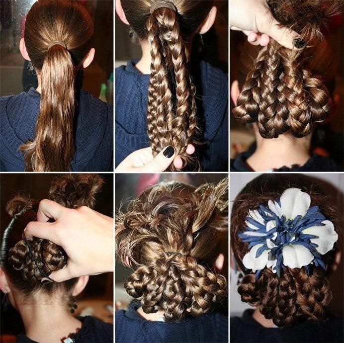 Модная прическа«россыпь косичек» на длинные волосы 2020