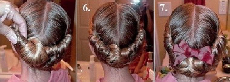 Модная прическа «дворянский венок» на длинные волосы для девочек 2019