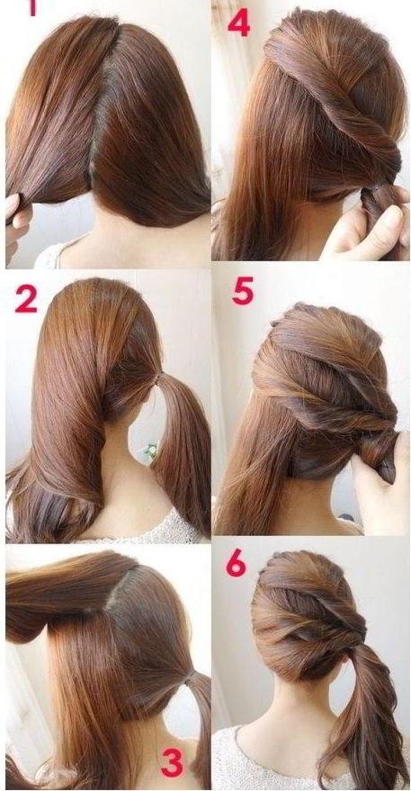 Модная прическа«Боковой хвост» на средние волосы для девочек 2020