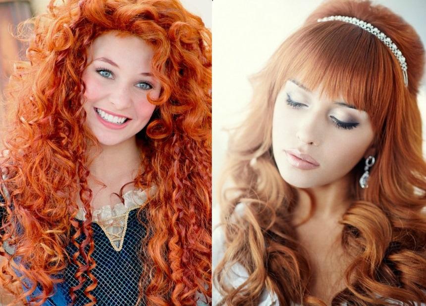 Прически на длинные рыжие волосы фото
