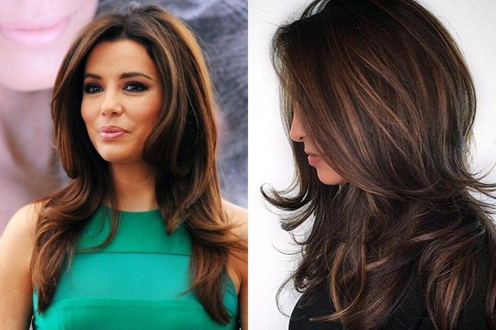 Модная прическа каскад на длинные волосы 2020