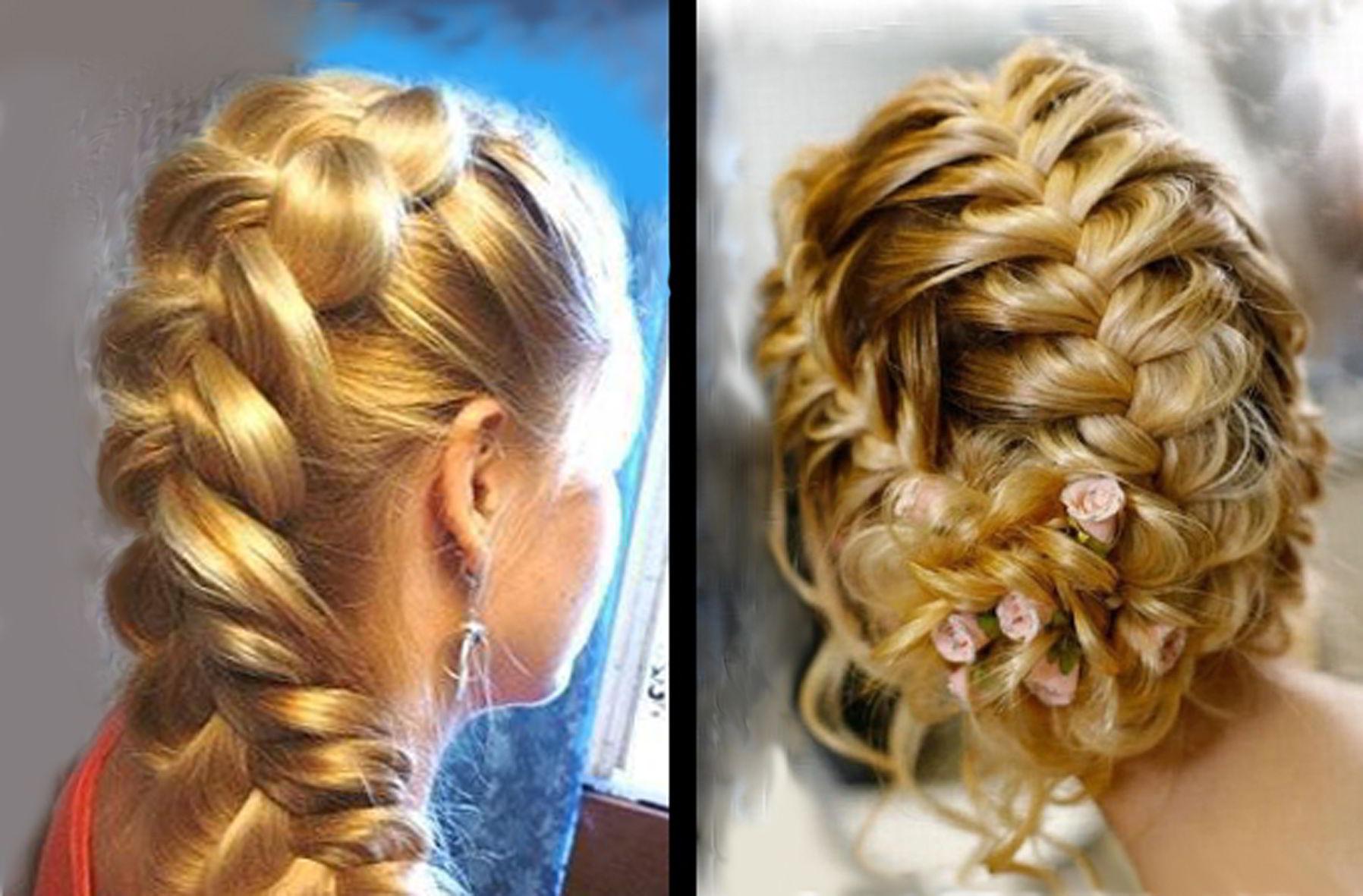 Французская коса на средние волосы 2020