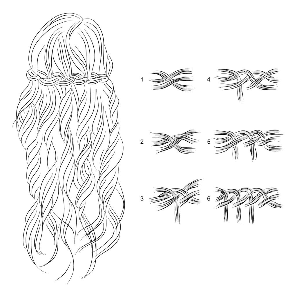 Коса-водопад на средние волосы 2019