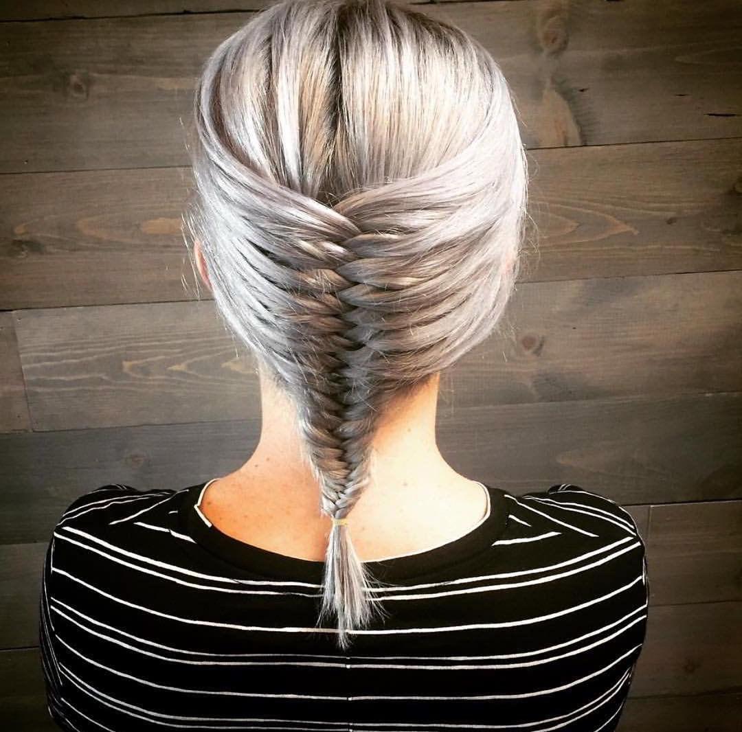 """Коса """"рыбий хвост"""" на средние волосы 2020"""