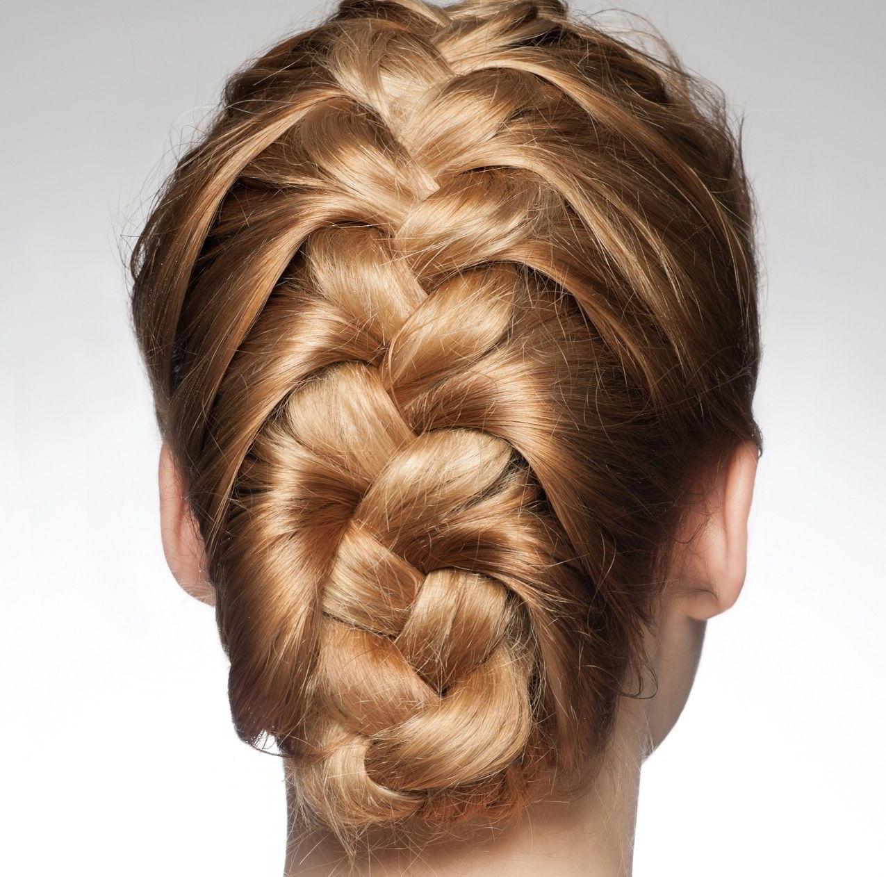 "Коса ""дракон"" на средние волосы 2019"