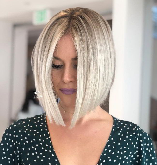 Модная прическа боб для женщин за 40 лет 2020