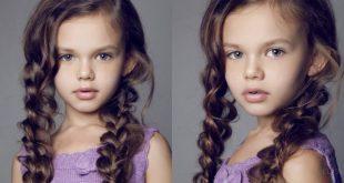 Модные прически на длинные  волосы для девочек 2020 фото
