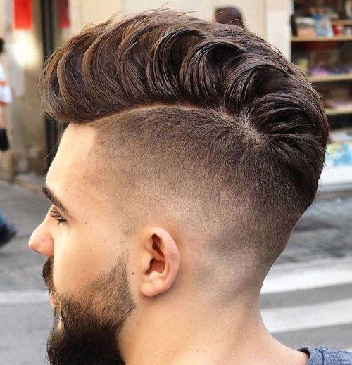 Модная мужская стрижка undercut на короткие волосы 2019