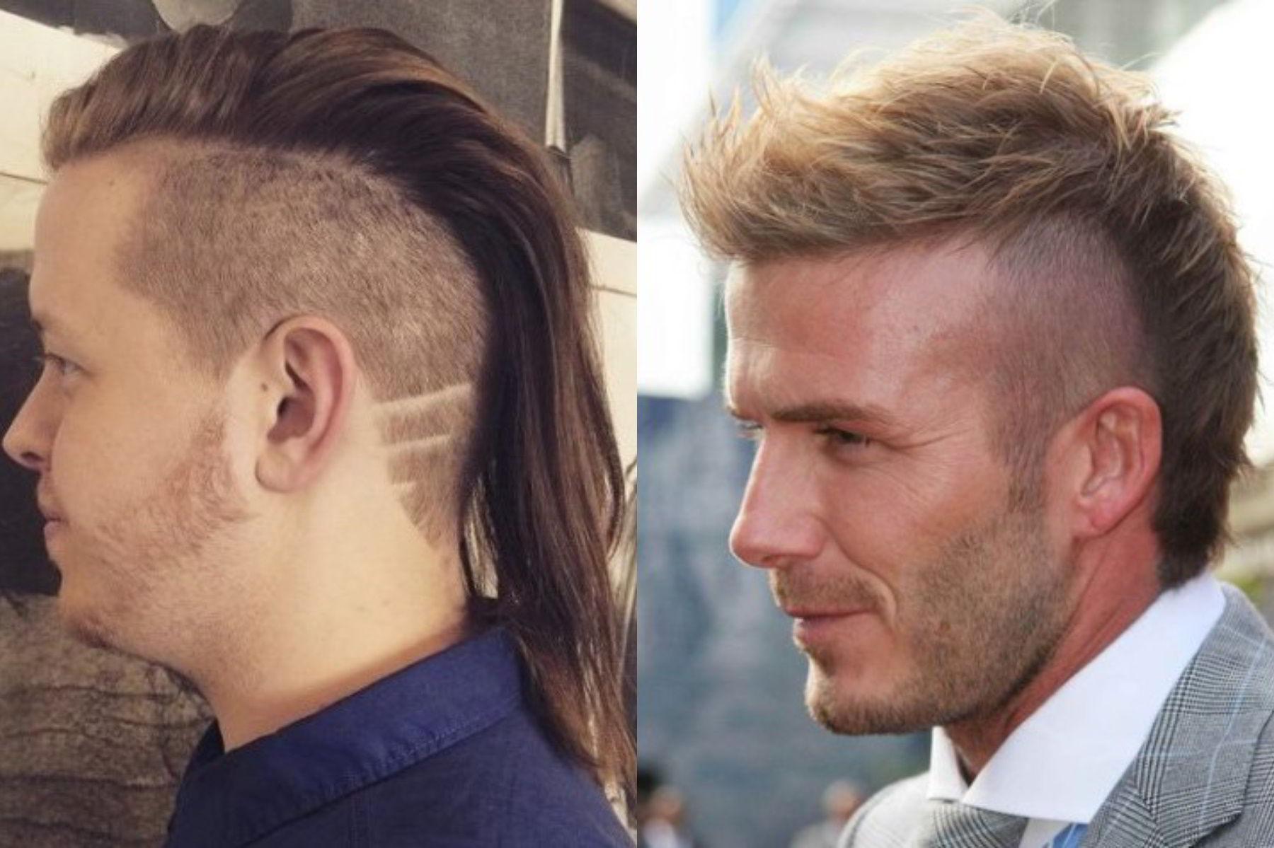 Модная мужская стрижка на длинные волосы с выбритыми висками или затылком 2020