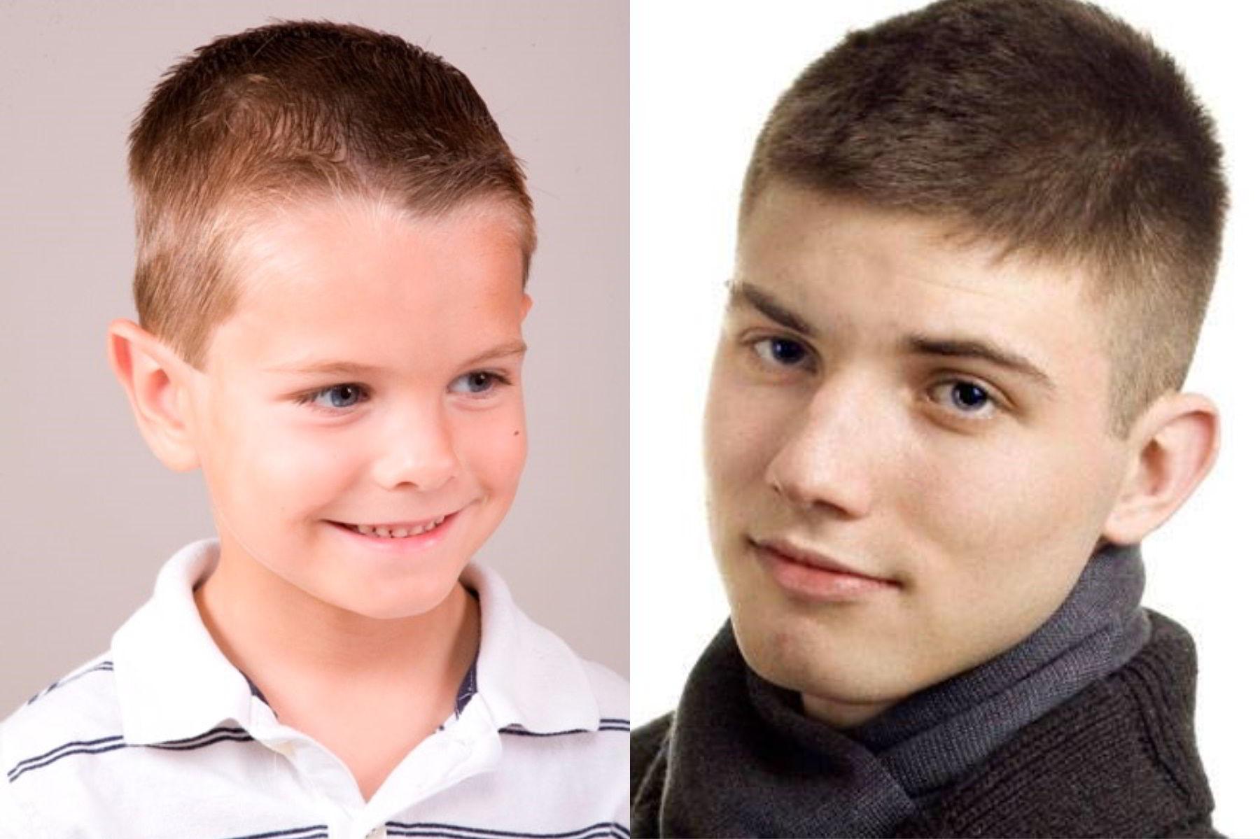 Выбор прически для мальчика по типу лица
