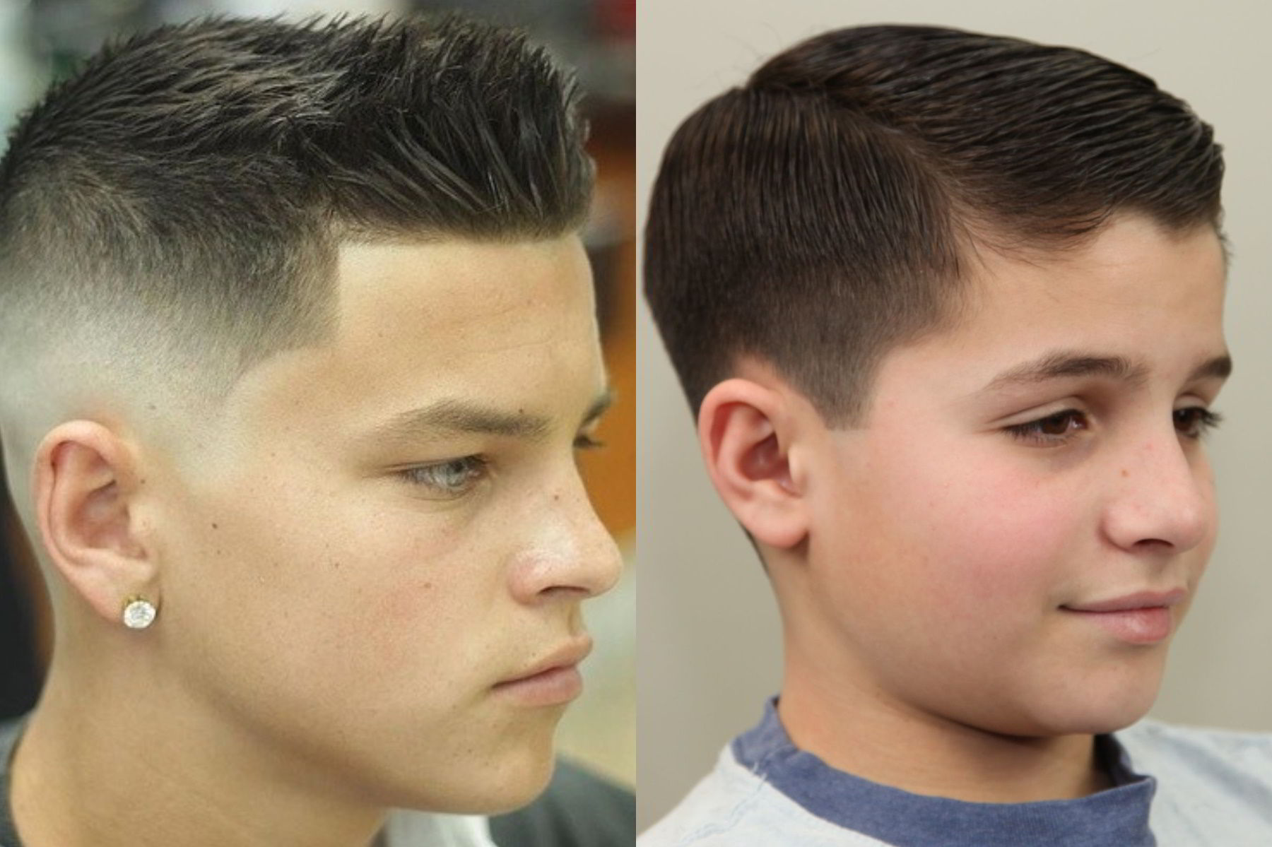 Модная прическа бокс и полубокс для мальчиков 12-13 лет 2019