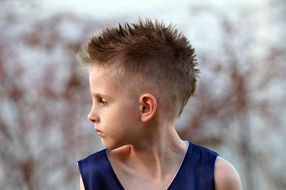 Модная прическа ежик для мальчиков 10-11 лет 201